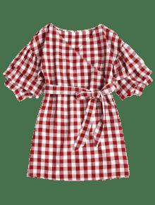 M Escocesa Rojo Casta Vestido De Tela o Mini Fqx0BwtRR