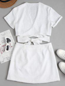Top Set Wrap Skirt Blanco M Y Mini 4rqqxwCd