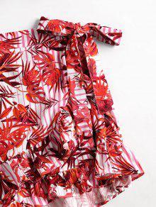 Casta Juego o Rojo S Top Skorts Tropical Dos Piezas De Print qZ6H0xw4