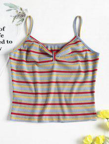Tank Top Multicolor Cami M Striped OzxqAn6p5w