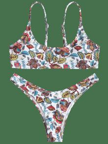 L Talla Grande Bikini Alto De Blanco Y Corte qw4B0T1S