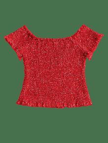 S Desgastada Rojo Blusa A Lunares pwaxE7qIx