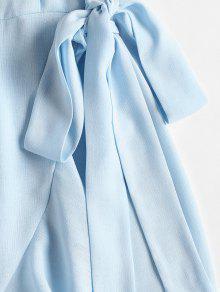 Azul Claro Con S Cami Volantes Vestido Overlap ZqIwxRHpp