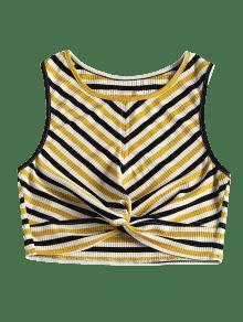 Multicolor Twist S Sin Mangas Camiseta Stripes fn6UwHqYO