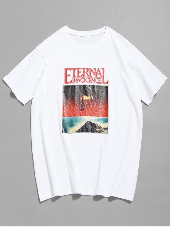 Maglietta Con Stampa A Teschio E Maniche Corte - Bianco S