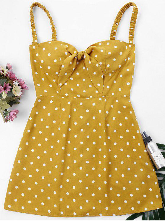 ريترو دوت كامي اللباس - نحلة صفراء XL