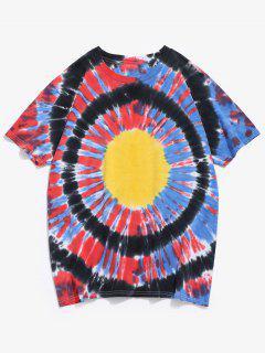 Riemchen Färbung Kurzarm T-Shirt - Multi S