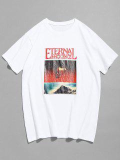 Kurzarm Schädel T-Shirt - Weiß S