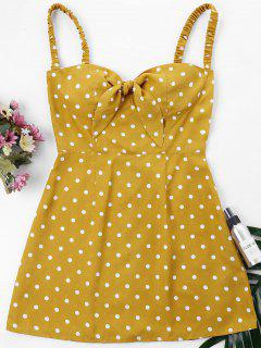 Retro Dot Cami Dress - Bee Yellow S