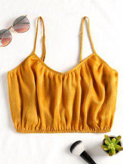 Camiseta Sin Mangas Cami Recortada - Amarillo De Autobús Escolar M
