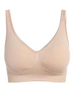 Padded Soft T Shirt Bra - Light Khaki L