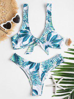 Bowknot Tropical Bikini Set - White L