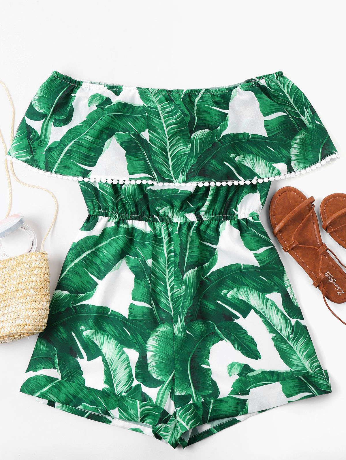 Off Shoulder Tropical