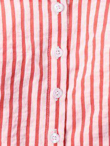 De M o Casta Rojo A Cuadrado Blusa Cuello Rayas fn8wRqaaS