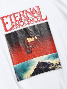 2xl Corta Camiseta De Blanco Calaveras De Estampado Con Manga ORpRqY8w