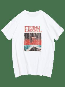 De Blanco De Camiseta 2xl Manga Con Calaveras Corta Estampado wIxUqS