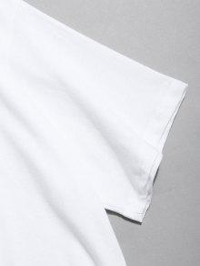 Estampado Blanco De Calaveras Corta Con Manga 2xl Camiseta De p5xwqUST6