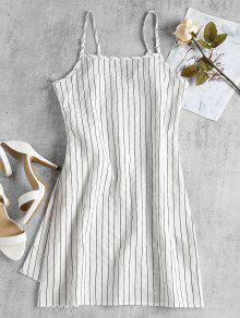 Dress L Mini Blanco Slip Slip Wrap UqwwTtYp