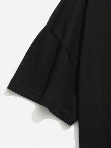 233;trico De Asim Dobladillo Xl 233;trica Camiseta Negro Asim qpvaXqEw