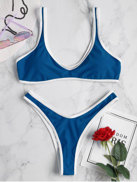 Bikini Sportivo Con Bordi A Contrasto - Occhi Azzurri S