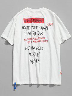 Carta Camiseta Casual Impresa - Blanco L