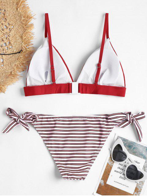 Sujetador Cami y Slipper Tie Swim Briefs - Rojo S Mobile