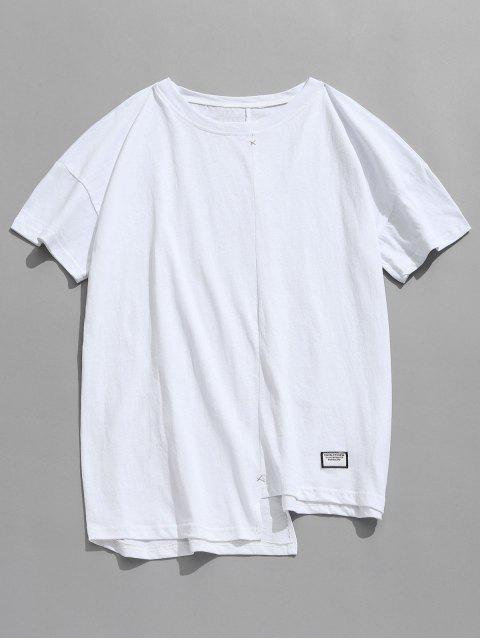 sale Asymmetrical Hem Casual Tee - WHITE 2XL Mobile