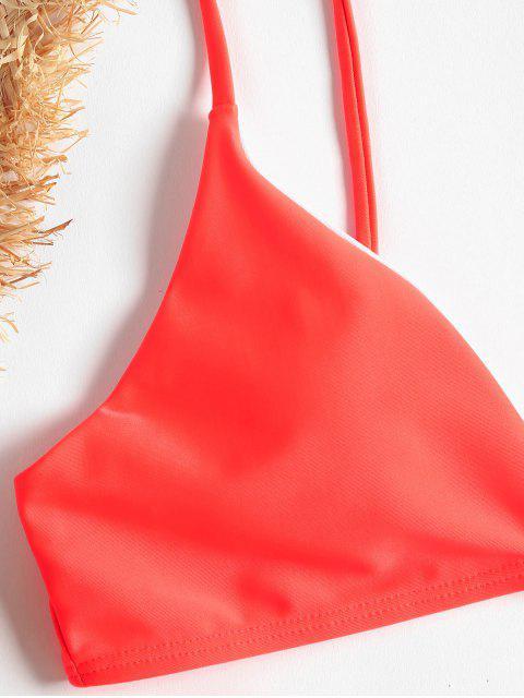 buy Cami Tied String Bikini - LAVA RED L Mobile