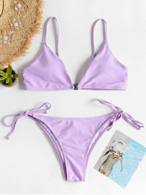 Bikini à à Bretelles Nouées - Mauve S Mobile