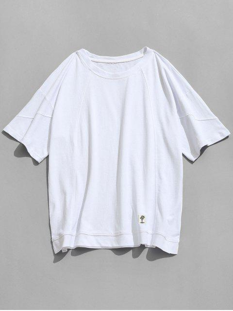 Drop Casual Slit Tee casual - Blanco L Mobile