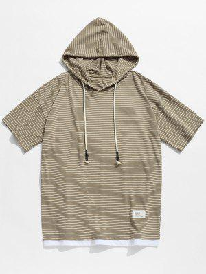 Hoodie Gestreiftes Schulter T-Shirt