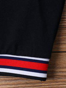 Mangas Negro Cremallera Con Camiseta Redondo Sin Y M Cuello Z0vW0A5Btn