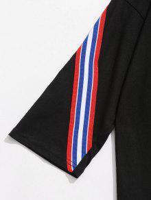 Con Camiseta 243;n Algod Panel A Rayas De Negro 2xl qqZAtw7xf