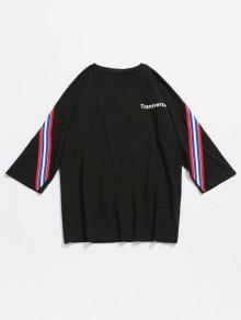 Negro Con Rayas Panel De Camiseta Algod 243;n 2xl A x0wtZxTU4q