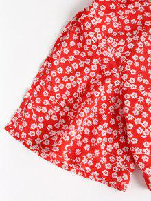 Falda Y Rojo Falda Estampada Maxi De Conjunto L pqI4wtP