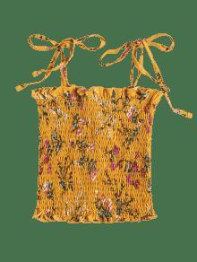 Mangas Top Estampado De 250;s Floral Escolar S Amarillo Cami Sin Con Autob De arawn5x