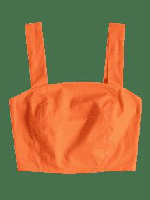 Sin Mangas Recortado Naranja De Smocked Top Calabaza De L 61qTnU6wdx