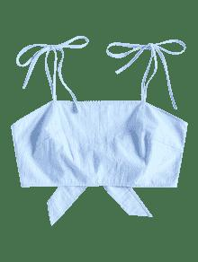 Corbata Tie M Celeste Crop Corbata Top Back FaOdwq5q