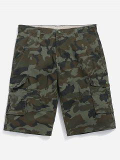 Camouflage Cargo Shorts - Camouflage Green 36