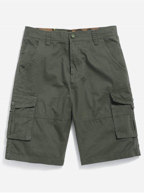 shops Zipper Fly Cargo Shorts - ARMY GREEN 32 Mobile