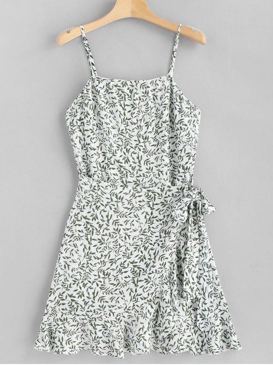 Blätter Überlappung Unterkleid - Weiß L