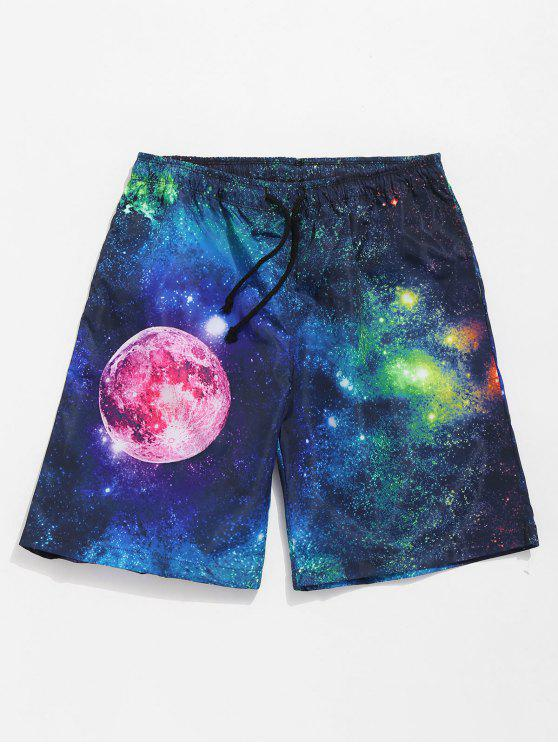 Casual Galaxy Shorts - Azul Oscuro de Denim L