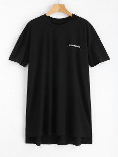 Robe T-shirt à Rubans - Noir Xs