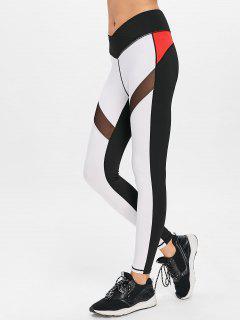 Colour Block High Waisted Sports Leggings - Multi S