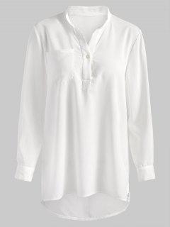 Camisa De Dormir De Manga Larga - Blanco Xl