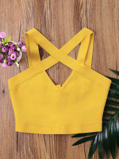 Camiseta Sin Mangas Recortada - Amarilla De Abeja