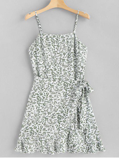Blätter Überlappung Unterkleid - Weiß L Mobile