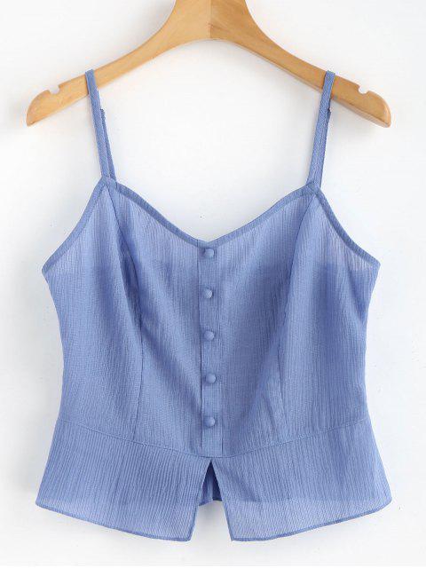 shop Buttons Cami Tank Top - CORNFLOWER BLUE L Mobile