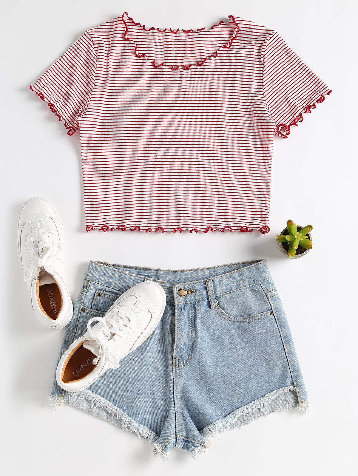 Lettuce Trim Striped T