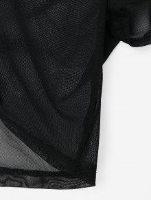 Superior Fruncido Pliegues Xl Con Delantero Parte Negro Cortada 8xOwU4Oqg